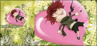 personaje de dibujos animados en forma de amor con el patrón