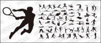 Semua jenis olahraga tindakan vektor siluet bahan-1