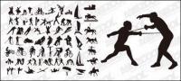 스포츠 행동의 모든 종류의 벡터 실루엣 자료-2