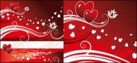 Bruissements du motif en forme de cœur