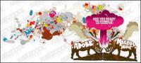 Illustration vectorielle de Rhino thème tendance