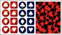 matériau de vecteur pour le logo Poker
