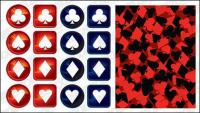 material de vetor de logotipo de póquer