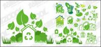 Зеленый тема векторного материала