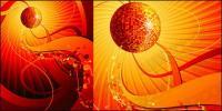 Tren musik disko elemen vektor bahan