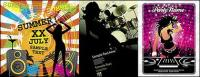 Женщины и музыкальная тема векторный материал