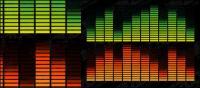 Музыка летучих элементов векторного материала