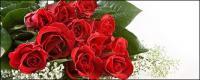 赤いバラの絵の花束
