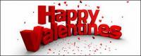 Modélisation 3D de personnages 3D picture valentine heureux