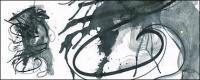 Bevor die Tinte Aquarell Bild Material-038