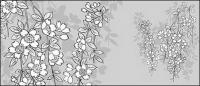 รูปวาดเส้นเวกเตอร์ของ flowers-43(Sakura)
