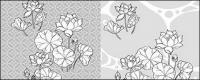 رسم خط من الزهور-21