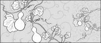 Dibujo de líneas de flores -22