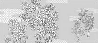 Dibujo de líneas de flores -25