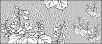รูปวาดเส้นเวกเตอร์ของดอกไม้-29