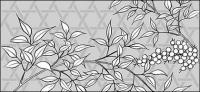 Dessin vectoriel de fleurs-36