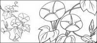 Dibujo de líneas de flores -9