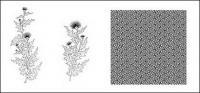 Desenho de linha das flores -10
