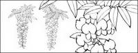 Dibujo de líneas de flores -12