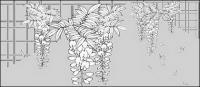 Dibujo de líneas de flores -13