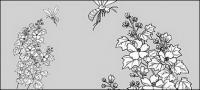 Рисование линии цветов -15
