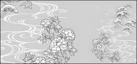Desenho de linha das flores -18