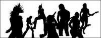 Conciertos de música artista siluetas vector material