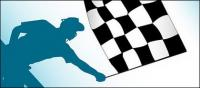 Banner de F1 de material de vetor