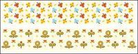 Lindos flores poco material de vectores