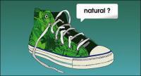 Chaussures de toile de vecteur