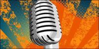 Microfone de prata vector material