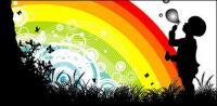 Material de vector de arco iris