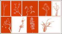 Material de planta clásica de vectores