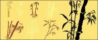 Material de vectores de siluetas de bambú