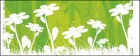 ベクトルの小さな花素材を背景します。