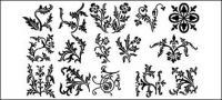 Secciones del patrón de encaje de material de vectores