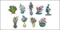 ベクトル イラスト スタイル花素材-2