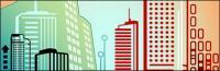 Векторные линии, состоящий из высотных зданий материала