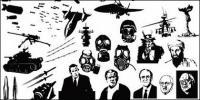 ไปที่สื่อที่ผลิตเวกเตอร์วัสดุ - ชุดรูปแบบของสงคราม