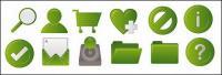 Grüne gemeinsame Web-Design-Stil-Ikone