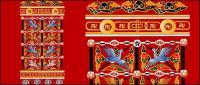 Grue chinois classique avec les dessins de bon augure