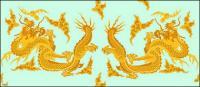 古典の中国のドラゴンのロゴ