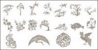 Clássicos chinesas auspiciosos desenhos