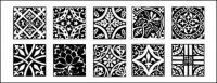 Klassische chinesische Fliesen Muster designs