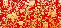 Chinos clásicos patrones de patrones de riqueza