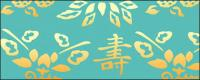Fushoushan clásico chino pisan patrón