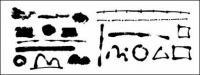 Вектор чернила материала-2