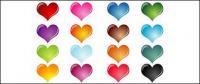 Effet coloré de cristal en forme de cœur