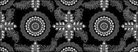 ベクトル伝統的なタイル張りの背景素材-25