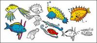 Divers caricature de poissons